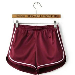 Pants - Red Satin Shorts (Hot pants)